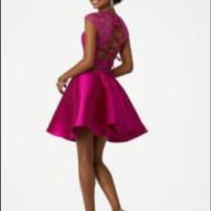 Mori Lee Dresses - Fuchsia two piece dress size 0 NWT